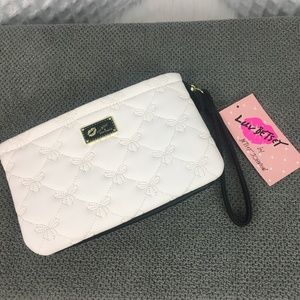 Betsey Johnson Double Pouch Wristlet NWT